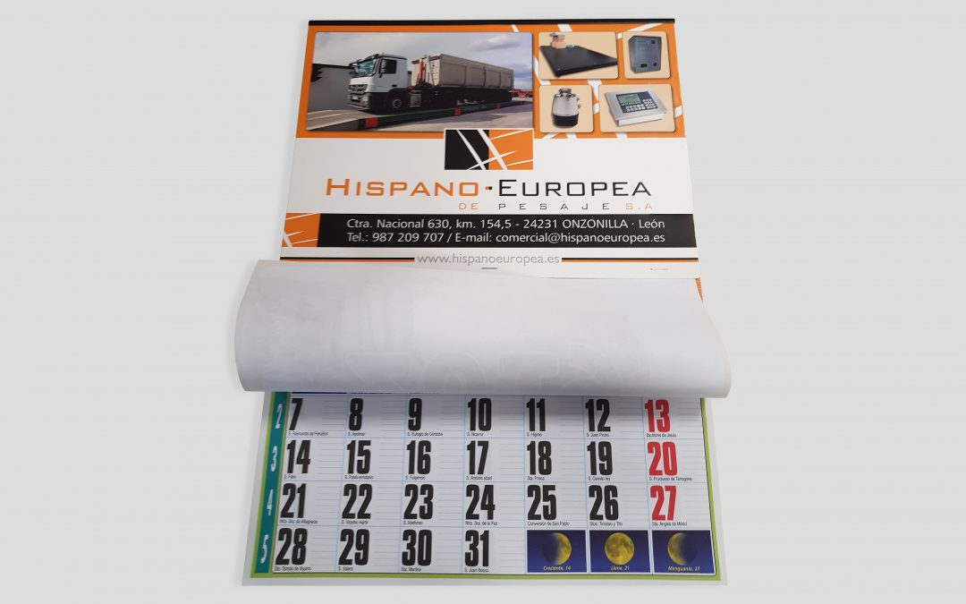 Calendario 2019 Hispano Europea